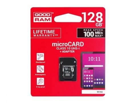 Karta pamäťová GOODRAM micro SD 128 GB s adaptérom