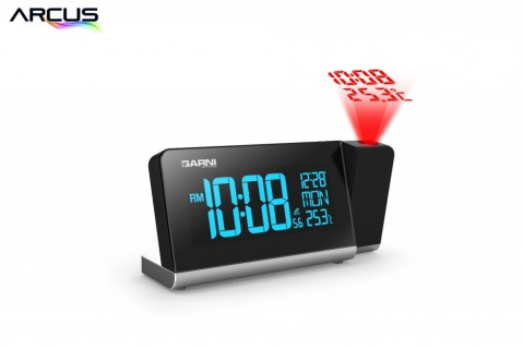 Digitální budík s projekcí času a vnitřní teploty GARNI 165 Arcus