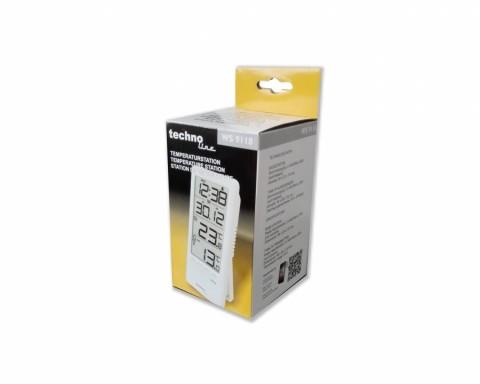 Digitální teploměr s bezdrátovým čidlem a budíkem WS 9118