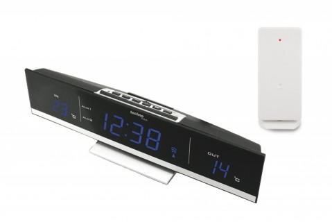 Digitální teploměr s budíkem s LED displejem WS6810B