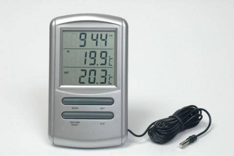 Digitální teploměr s budíkem a minutkou TM898T