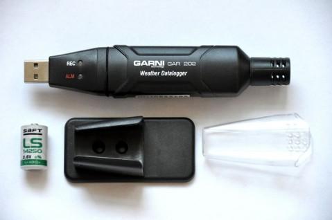 Datalogger pro měření teploty, rel. vlhkosti a barometrického tlaku GAR 202