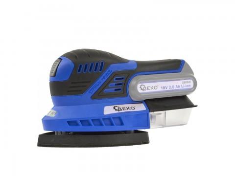 Vibrační bruska akumulátorová 18V - bez baterie a nabíječky GEKO