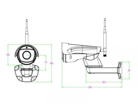 Kamera WIFI SECURIA PRO N399B-200W 2MP 1080P vonkajšia fixná