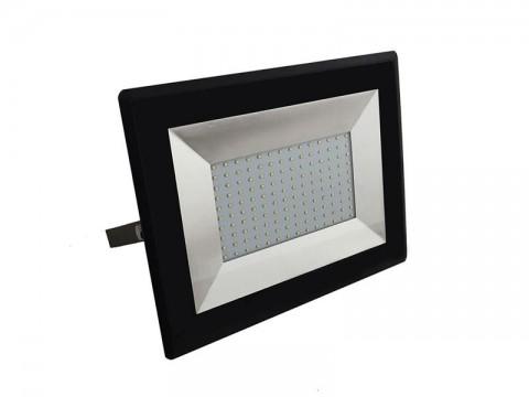 LED vonkajší reflektor SLIM,100W, 8500lm, 4000K, AC 230V, čierna