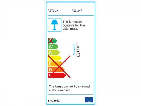 LED vonkajšie reflektor, 30W, 2400L, AC 230V, RETLUX RSL 247 so senzorom