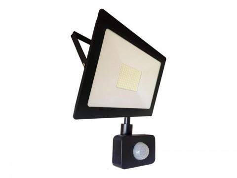 LED vonkajšie reflektor, 50W, 4000L, AC 230V, RETLUX RSL 248 so senzorom