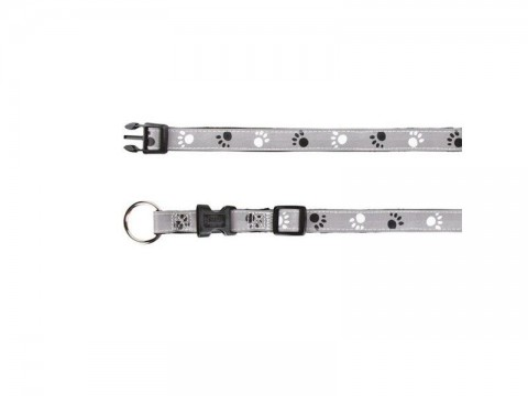 Obojok reflexný TRIXIE SILVER REFLECT S / M 30 - 45 cm