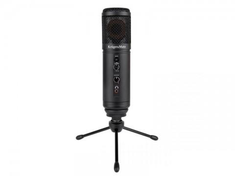 Mikrofón KRUGER & MATZ Warrior GV-100 USB herný a vlogerový