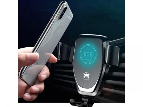 Držiak do auta na mobil s bezdrôtovým nabíjaním
