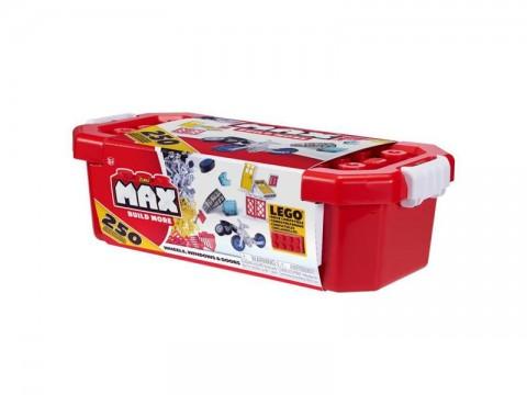 Stavebnice Max Build More: 250 dílků - stroje, okna, dveře