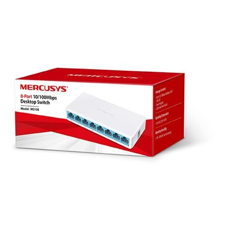 MERCUSYS 8-Port 10/100Mbps Desktop Switch MS108