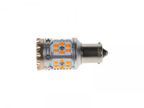 Autožiarovka LED BA15s 12/24V STU oranžová
