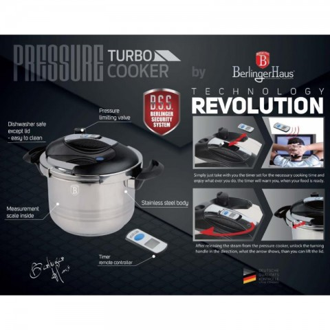 BERLINGER Turbo pressure cooker 6L