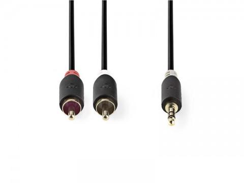 Kábel NEDIS JACK 3.5 stereo/2xCINCH 0.5m