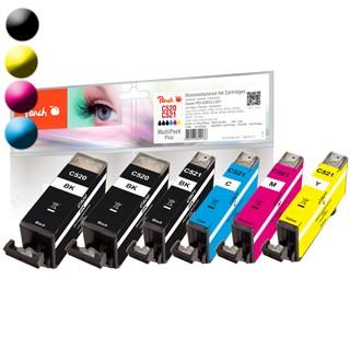 PEACH Canon PGI-520/CLI-521, PEA, Multi-Plus