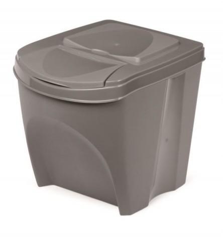 Odpadkový koš SORTIBOX šedý kámen 392X293X335 PROSPERPLAST