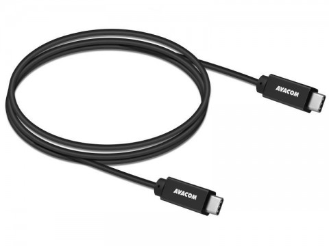 Dátový a nabíjací kábel USB Type-C - USB Type-C, 100cm, 60W E-Mark, čierny