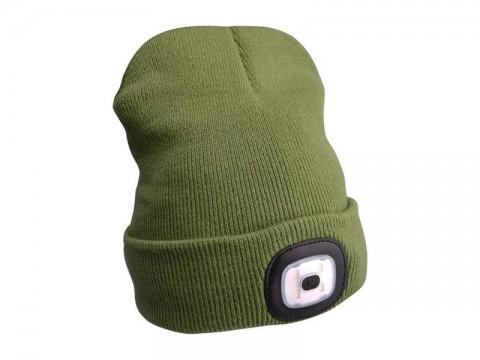 Čiapka s čelovkou EXTOL LIGHT EX43192 nabíjací, zelená