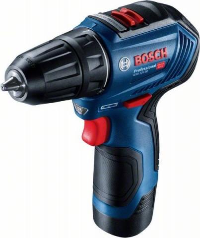 Aku vrtací šroubovák Bosch GSR 12V-30 Professional, 2x2.0Ah, taška, 06019G9001