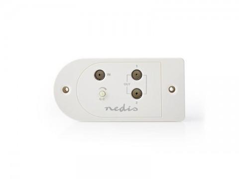 Anténny zosilňovač NEDIS SAMP40125WT 25 dB 2 výstupy