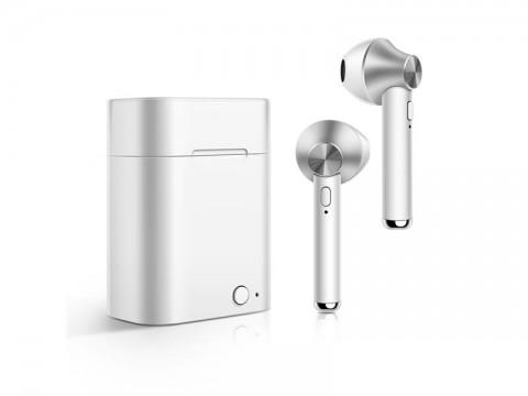 Slúchadlá Bluetooth TWS D012 strieborná
