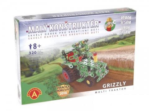 Stavebnica PEXI MALÝ KONSTRUKTÉR traktor Grizzly