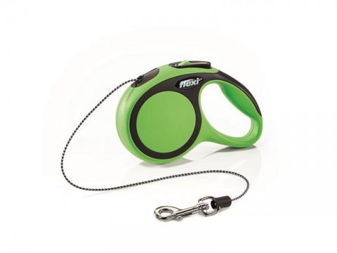 Vodítko pre psov FLEXI New Comfort XS lanko 3m / 8kg zelené