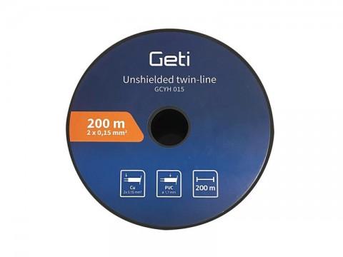 Dvojlinka netienená 2 x 0,15mm Geti GCYH015 čierno/červená 200m