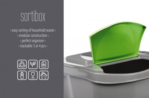 Odpadkový koš na plast SORTIBOX bílá 392X293X335 PROSPERPLAST