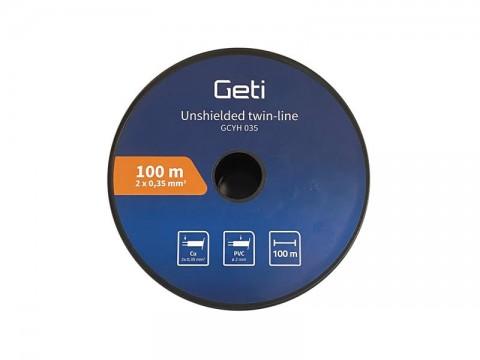 Dvojlinka netienená 2x0,35mm Geti GCYH035 čierno/rudá 100 m