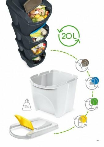 Odpadkový koš na papír SORTIBOX bílá 392X293X335 PROSPERPLAST
