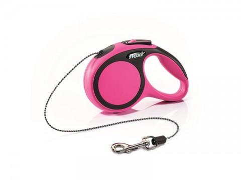 Vodítko pre psov FLEXI New Comfort XS lanko 3m / 8kg ružové