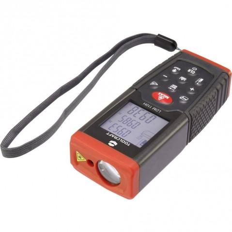 Laserový měřič vzdálenosti LDM100H 1511649, max. rozsah 100 m TOOLCRAFT
