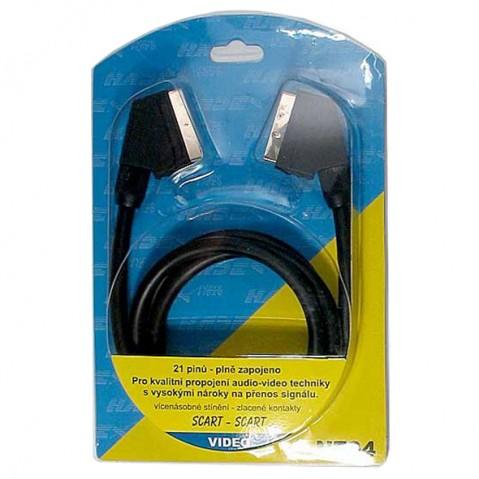 Kábel TIPA SCART/SCART 21pin 1,5m blister