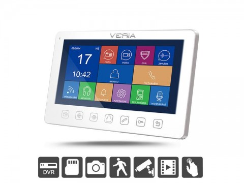 Videotelefon VERIA 7076B bílý + VERIA 229