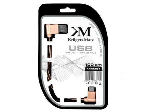 Kábel KRUGER & MATZ KM0361 USB C ružový