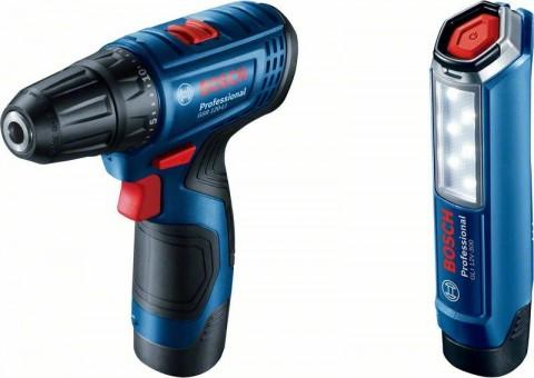 Aku vrtací šroubovák Bosch GSR 120-LI Professional, 2x 2.0Ah, nabíječka, 06019G8004