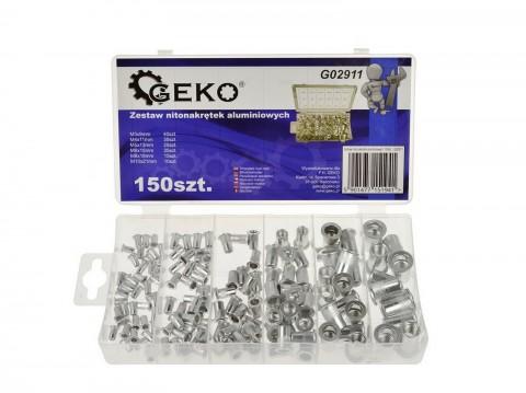 Sada hliníkových nýtovacích matic 150 ks GEKO