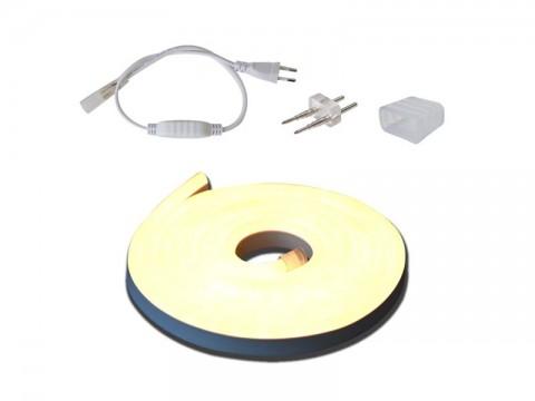 LED neón flexi sada 3m neón hadice 230V, 2835, 120LED/m IP67 12W/m neutrálna biela+príslušenstvo