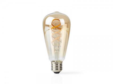 Múdra WiFi žiarovka LED E27 5.5W teplá biela NEDIS WIFILT10GDST64 SMARTLIFE