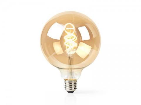 Múdra WiFi žiarovka LED E27 5.5W teplá biela NEDIS WIFILT10GDG125 SMARTLIFE
