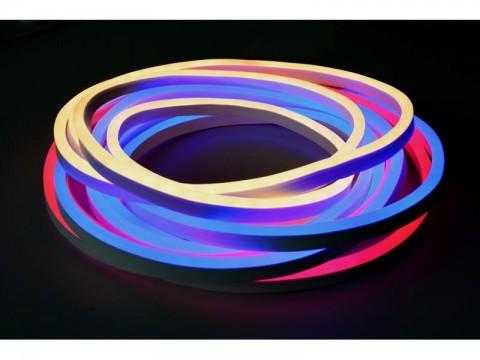 LED neón flexi sada 3m neón hadice 230V, 2835, 120LED/m IP67 12W/m modrá+príslušenstvo