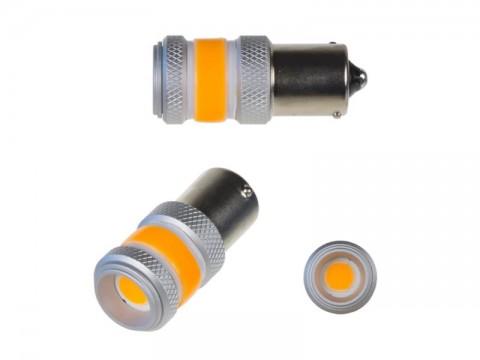Autožiarovka LED BA15s 9-60V 12W STU oranžová