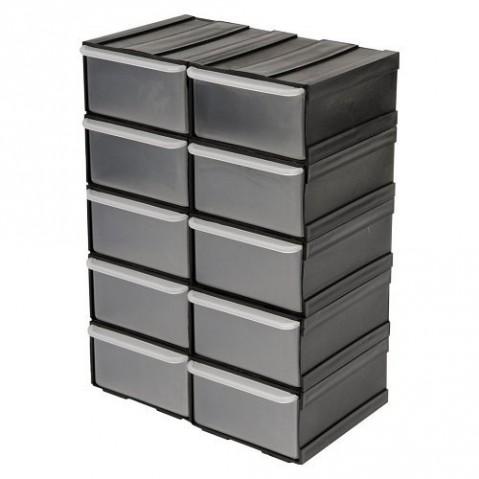 Skříňka se zásobníky, 10 zásobníků,  225x155x1005mm TOYA