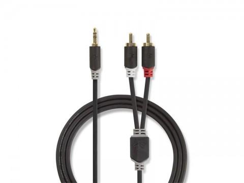 Kábel NEDIS JACK 3.5 stereo/2xCINCH 10m
