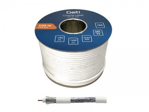 Koaxiálny kábel Geti 107AL PVC (100m)