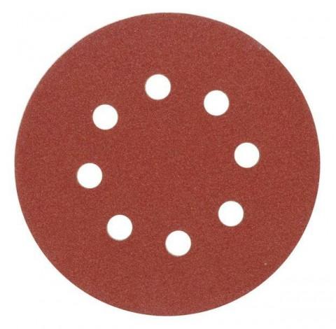 Brusný papír 125 mm P60 s otvory 5 ks suchý zip TOYA