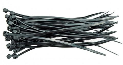 Páska stahovací 150 x 2,5 mm 100 ks černá TOYA