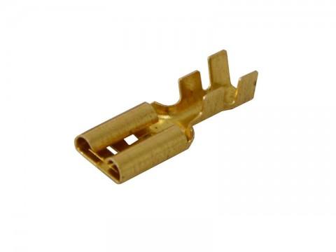 Zdierka faston  neizolovaná 9.5mm   2-4mm blokáda